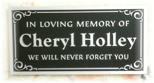 Cheryl Holley bronze plaque