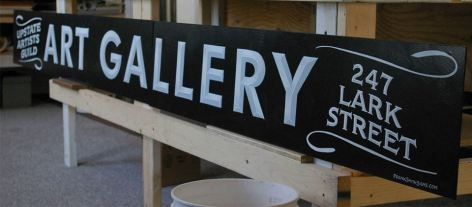 Upstste Artists Guild hand painted sign
