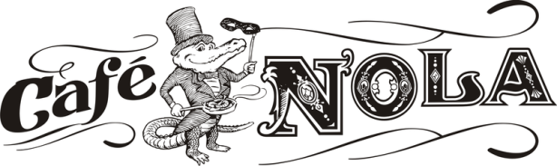 Cafe Nola logo by Frank Smith, Albany NY