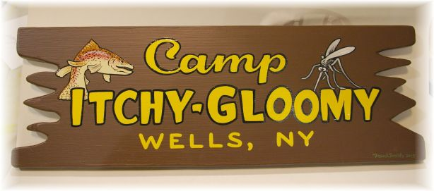 camp sign by Frank Smith - Camp Itchy-Gloomy